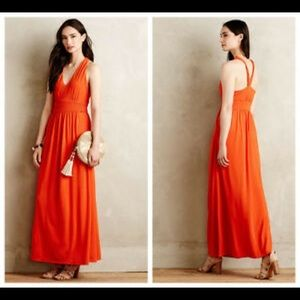 Anthropologie Yuma Maxi Dress in Orange